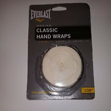 Everlast 120 Inches Classic Hand Wraps White 4455WHT for sale online