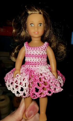 pinks loops Hand crocheted American Girl Doll Mini Doll Clothes