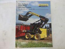 New Holland Super Boom Skid Steer Loaders Brochure L150 L160 L170 L175 L180 L190