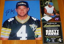 GREEN BAY PACKERS BRETT FAVRE Autographed 4 signed 1994 8x10 PHOTO Authentic COA