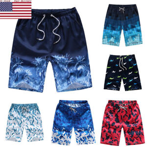 US-Fast-Summer-Men-039-s-Boardshorts-Surf-Beach-Shorts-Swim-Wear-Sports-Trunk-Pants