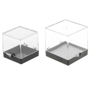 2pcs Acrylic Display Box Show Case Small Cube for Gem Rock