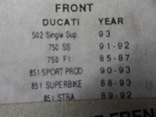 NOS Aprila Ducati Bimota Moto-Guzi Braking SM1 Semi Metallic Brake Pads 688