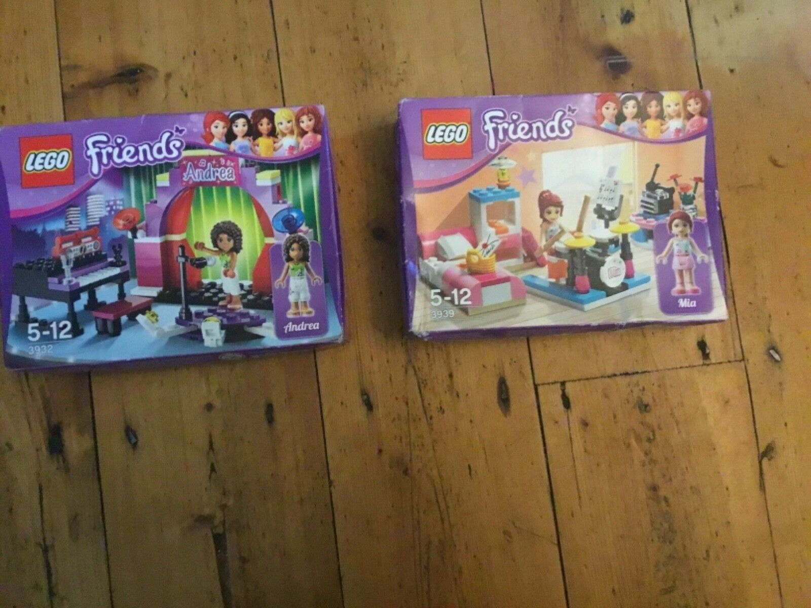 LEGO Friends 3932 Andrea Piano Stage plus 3939 Mia Drums Bed Music New Bundle