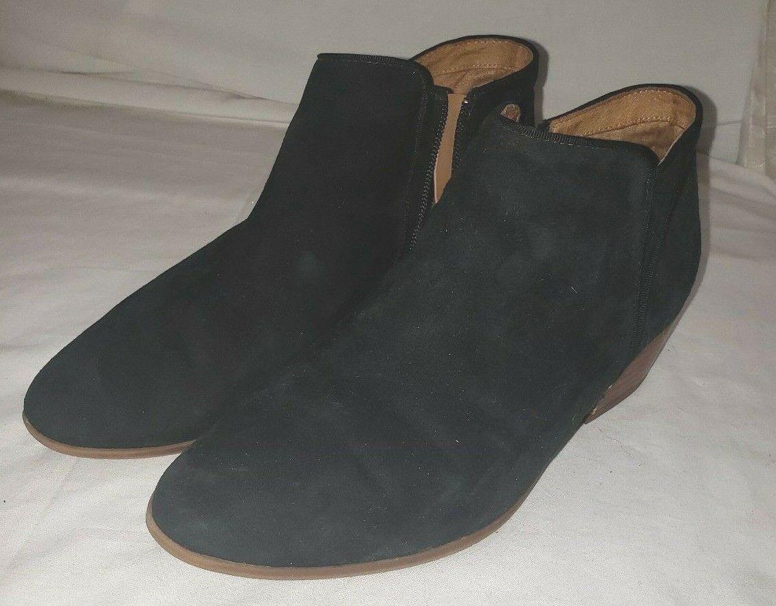 Clarks pour Femme en Daim Noir Bottines Cuir 8 1 2 8.5 Chaussures