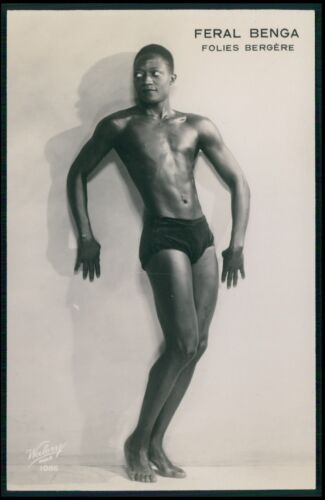 Feral Benga Folies Bergere Black dancer Male nude gay interest c1920s photo