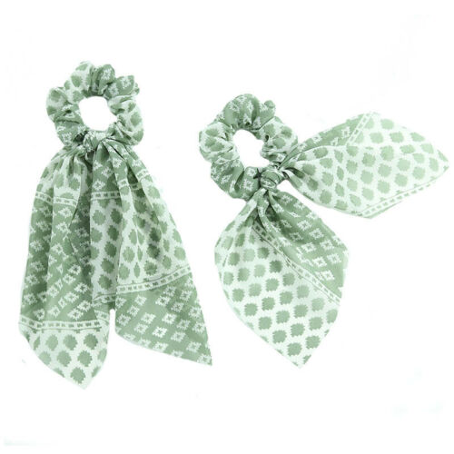 Hot Women Elastic Bow Hair Band Hair Rope Ties Ribbon Scrunchie Accessories