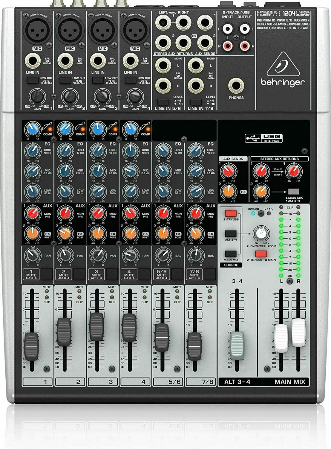 Behringer 1204USB 12-Channel USB Mixer Board w/ Mic Preamp Interface *GREAT GIFT. Buy it now for 227.85