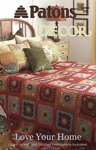 Patons-Knitting-Pattern-Book-500883-Love-Your-Home-Decor-Crochet-amp-Knit-NEW