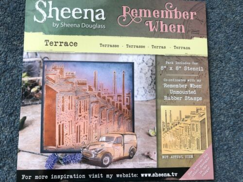 CRAFTERS COMPANION REMEMBER WHEN STENCIL ARCHWAYS CHIMNEY DOORWAY WORDS SHOP