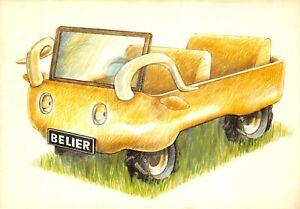 Carte-Postale-Signe-du-ZODIAC-BELIER-serie-Automobile