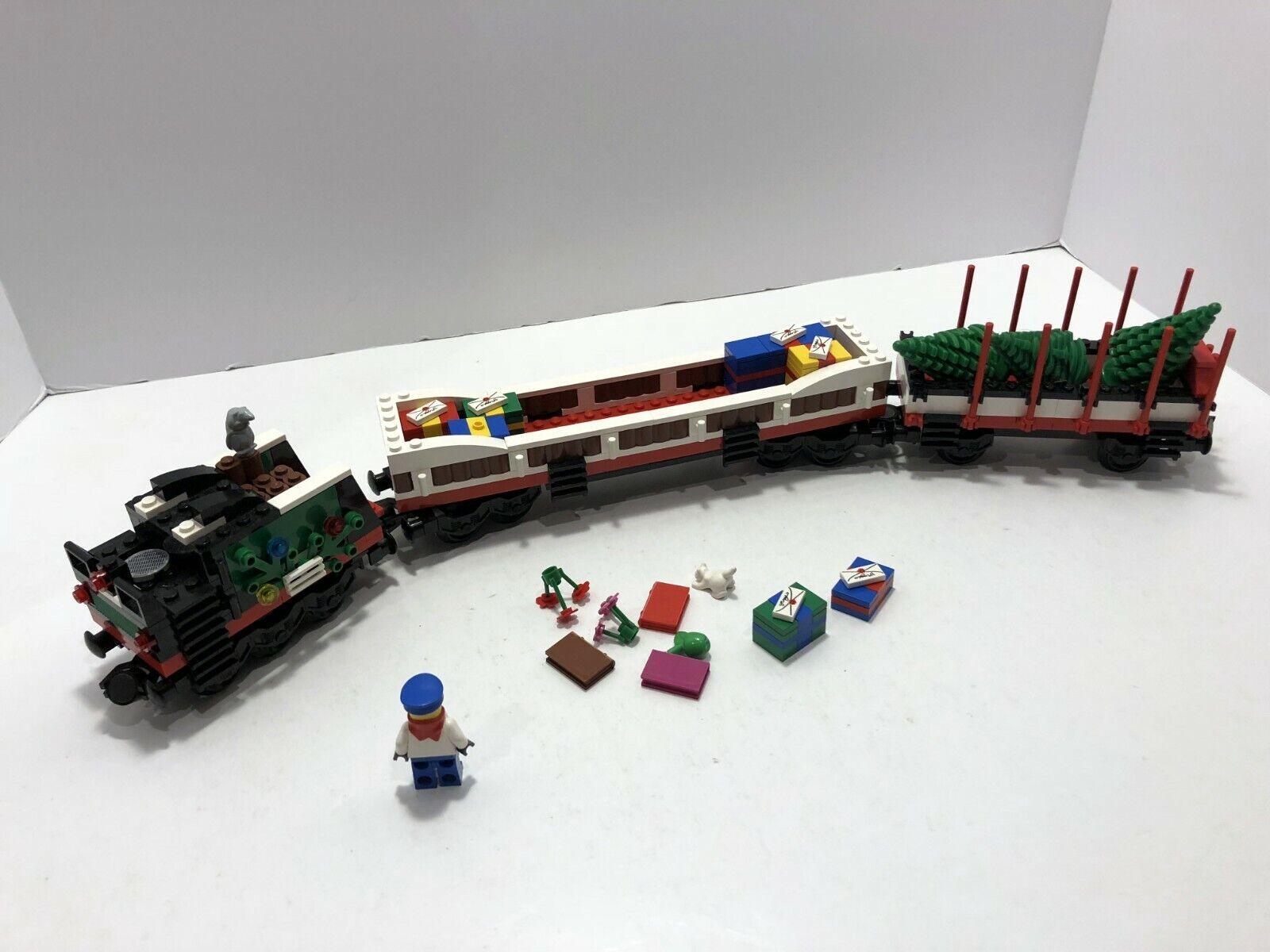Tren de Lego  9V  tren de vacaciones 10173-Cochebón Coche, Coche de regalo y sólo coche de árbol.