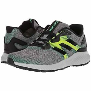 online retailer 71101 f981b Image is loading Mens-Adidas-Aerobounce-Black-Green-Running-Athletic-Sport-