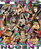 ted Nugent Tribute T-shirt Or Print By Ed Seeman