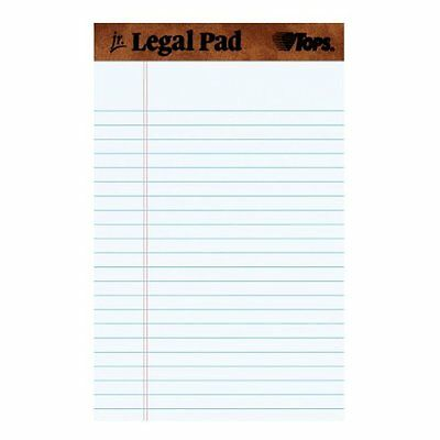 """Notepad Perforated Office Writing Note Pad, Legal Rule 5 X 8"""", 50 Sheet, 12 Pack"""
