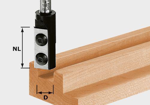 Festool Wendeplatten-Nutfräser HW Schaft 8 mm HW D16 30 S8   492716