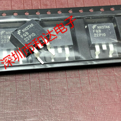 10 x FQB22P10 22P10 P-Channel QFET MOSFET TO-263