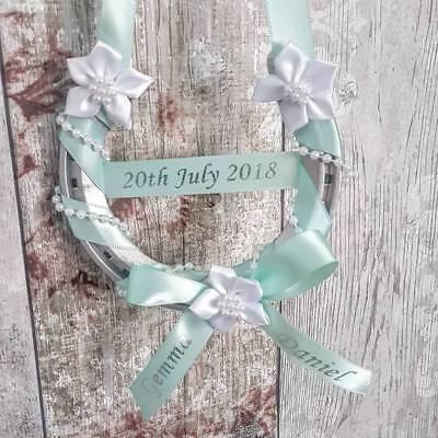 Personalised Bridal Horseshoe Wedding Gift Good Luck Charm Acrylic Decoration
