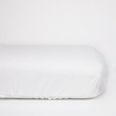 100/% Organic Cotton Premium Quality Soft Jersey Cot Fitted Sheets 120 x 60-White