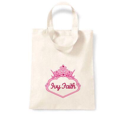 Nome Personalizzata Favore Partito Regalo Canvas Tote Bag | Principessa-mostra Il Titolo Originale Abbiamo Vinto L'Elogio Dai Clienti