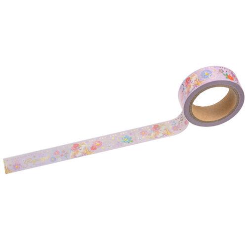 Disney Store Japan Rapunzel Gradation Colored Washi Decoration Tape Gold Print