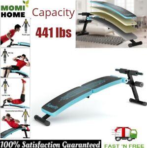 Sit Up Utility Bench Incline Decline Exercise Strength Training Adjustable Blue Ebay