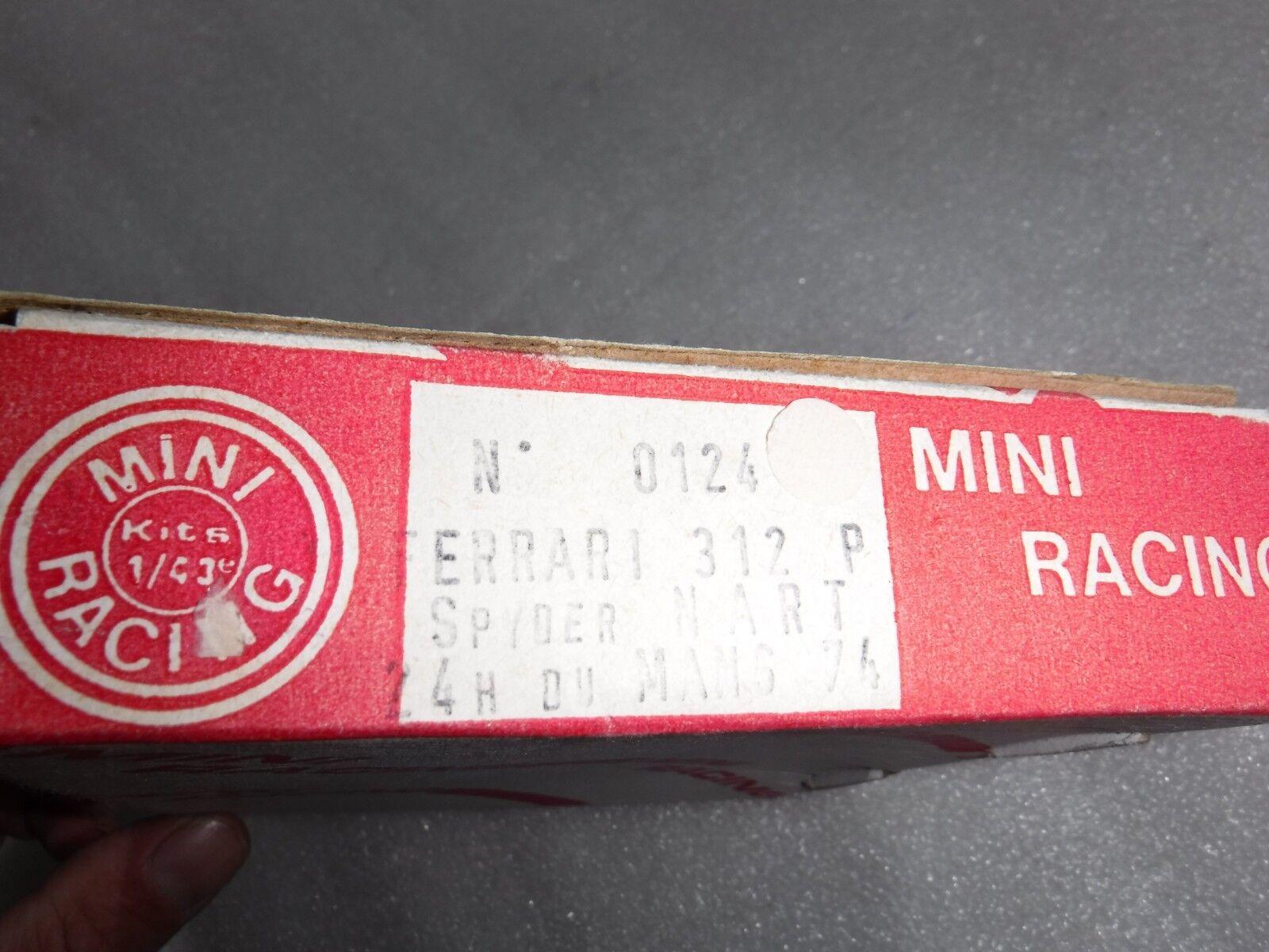 Vintage Mini Racing No 0124  Metal Build Build Build Kit Ferrari 312P Spyder Nart 74  Boxed e42961
