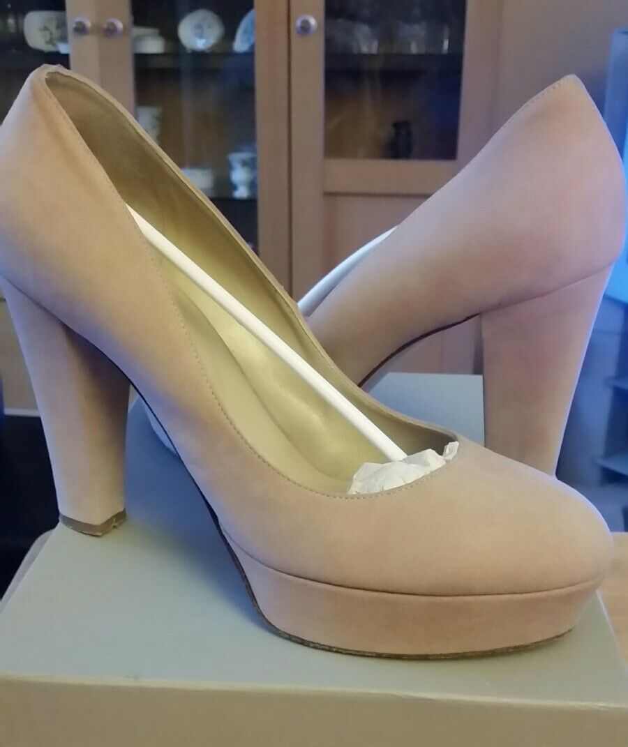 Ladies HOBBS Nude BETTE Court shoes to (actual fit  size 8 (actual to size states 9 EU42) 50f1a5