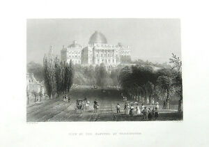 UNITED-STATES-CAPITOL-BUILDING-Congress-WASHINGTON-DC-1837-Art-Print-Engraving
