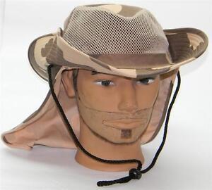 Men-Summer-Safari-Outback-Mesh-Summer-Hat-W-Neck-Flap-981-Desert-Camo-Medium