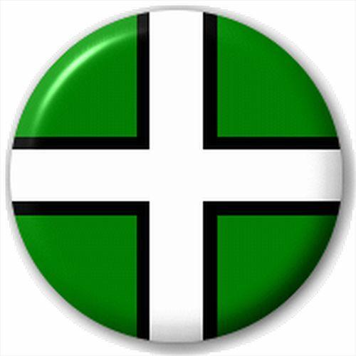 Small 25mm Lapel Pin Button Badge Novelty Devon Flag