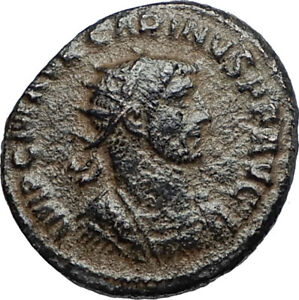 CARINUS-w-Carus-on-Authentic-Ancient-283AD-Genuine-Roman-Coin-of-Antioch-i67230