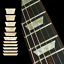 Dish Trapezoids Les Fretboard Markers Inlay Stickers Decals for Guitars /& Bass
