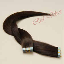 100% Remy Human Hair Seamless Tape in Hair Extensions #2(Darkest Brown)