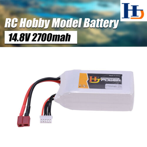 HJ 14.8V 2700mah 25C Lipo Battery T Plug For RC Car Fixed-wing Airplane RC Model