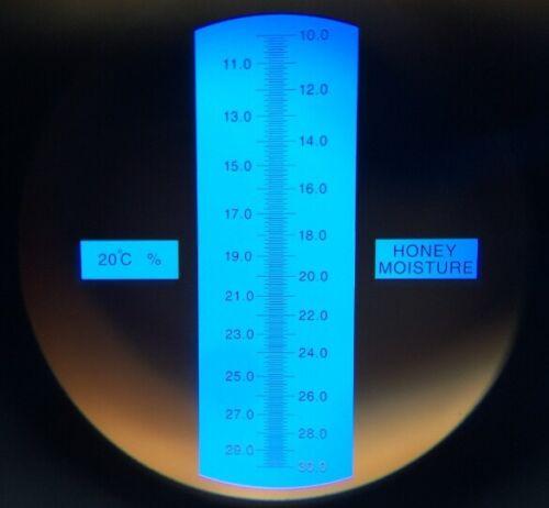 30/% resolución 0,1/% miel húmedos 3015 Apicultor refractómetro miel contenido de agua 10/%