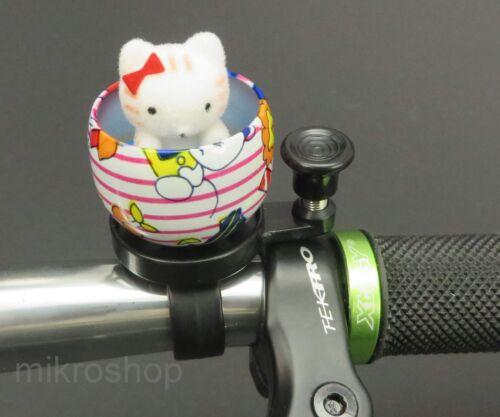 Fahrrad Glocke Klingel Kuscheltier Katze