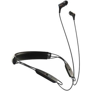 Klipsch R6 Neckband Earbuds Bluetooth Headphone - Black Leather - 1062796