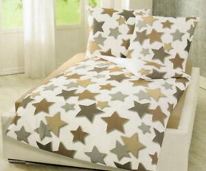 Bierbaum Biber Bettwäsche Sterne 155 X 220 Cm Baumwolle