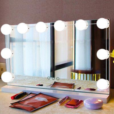 10PCS BADEZIMMER LED Spiegel Licht Kit für Make Up Hollywood