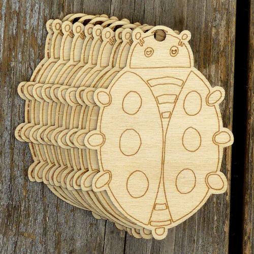 10x De Madera Insecto Comic Ladybug CRAFT formas 3mm madera contrachapada errores y Beatles