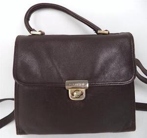 Image Is Loading Vintage Picard Brown Leather Satchel Shoulder Bag Top