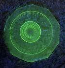 "6"" Vintage Uranium ""Raised Design""Plate(green)"