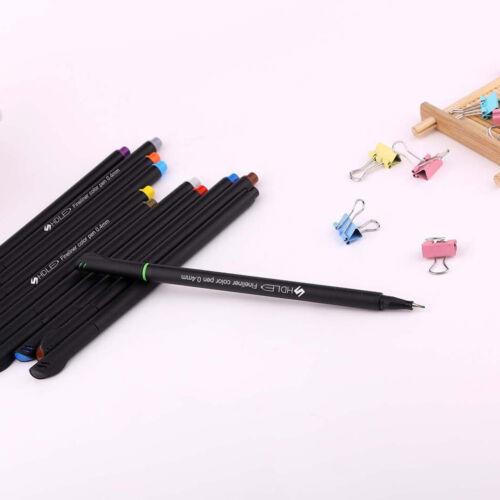 12pcs color pen set fine line drawing pen porous fine point markerTIUK