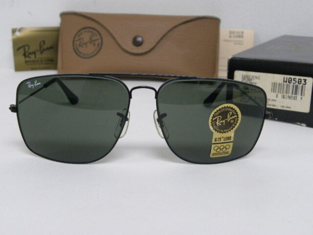 New Vintage B L Ray Ban Classic Metals Explorer Black Chrome W0503 USA NOS 8fe98787ad