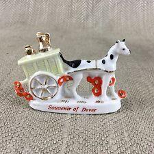 Carenado Antiguo Victoriano 19th C Dover Souvenir Perro Carro China Figura Vintage