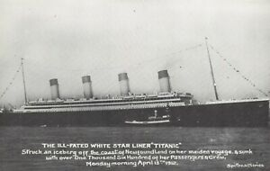 Postcard-The-Ill-Fated-White-Star-Liner-Titanic-which-Sank-April-15th-1912-CA8