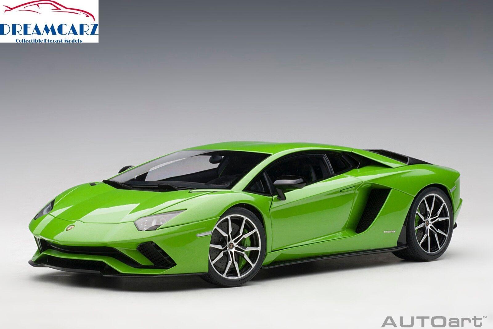 AUTOART 79133 1 18 LAMBORGHINI AVENTADOR S-vert Mantis (Pearl vert)