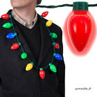 New LED Light Up Christmas Bulb Necklace Party Favors for Adults or Kids Holiday