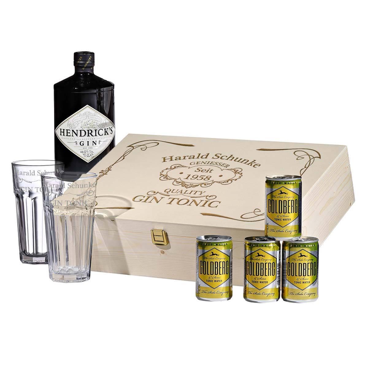 8 pezzi gin-tonic-Set Incl. incisione motivo quality Gin